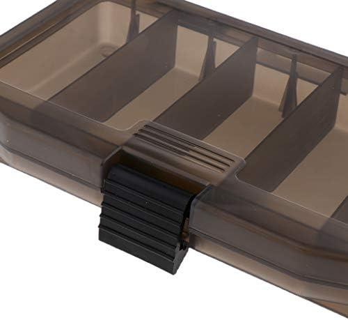 釣り道具 ボックス 釣りの餌箱 防水 耐衝撃 約17.5×8.5×3 cm 茶色 釣具収納 ルアーケース