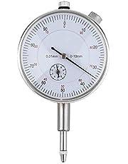 8Eninine Precision Tool 0.01Mm Misuratore di precisione Strumento quadrante indicatore di precisione - Argento