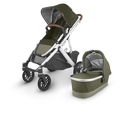 Vista V2 Stroller – Hazel (Olive/Silver/Saddle Leather)