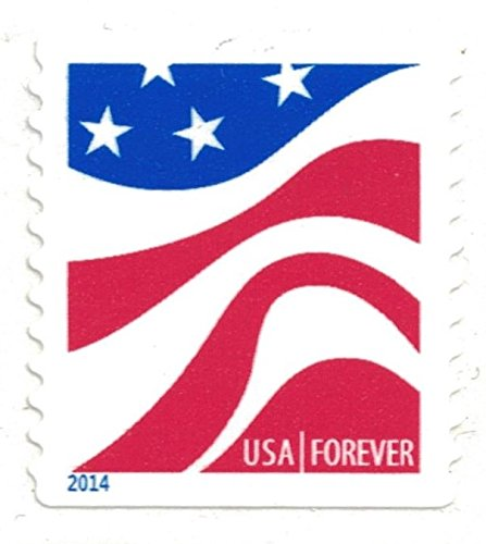 usps forever stamps roll of 100 red white blue flag arts entertainment hobbies creative arts. Black Bedroom Furniture Sets. Home Design Ideas