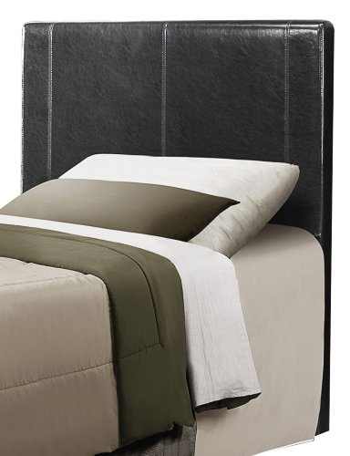 Homelegance 815TBKPU-1 Bi-Cast Vinyl Headboard Only, Twin, Black