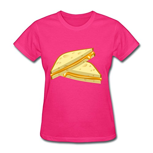 Women Food Grilled Cheese Top Clothing -medium Creative Painting Pink