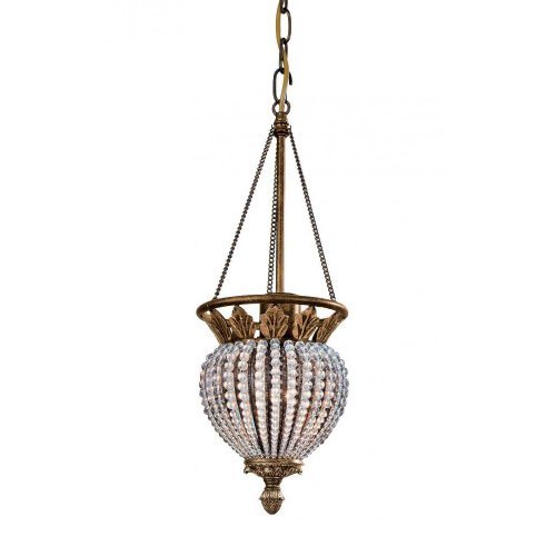 Crystorama Lighting 6725-WP Pendant with - Weathered Patina Crystal Beads Shopping Results