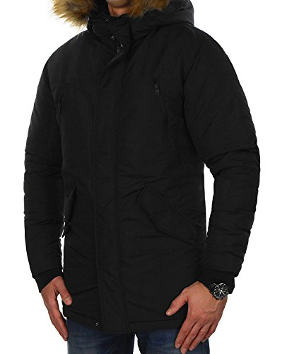 Jack Uomo Jcopeak Jcohollow Jones black amp; Schwarz Fit one Jacket Parka Giacca 7nrg7wq4B