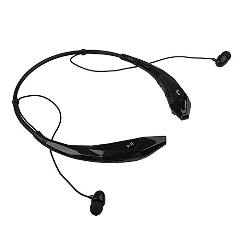 esonstyle bluetooth 4 0 around the neck wireless stereo headset headphone earphone with hands. Black Bedroom Furniture Sets. Home Design Ideas