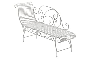 HomeStylist Metal Garden Bench Fancy L Garden Lounger Chaise Lounge on chaise sofa sleeper, chaise recliner chair, chaise furniture,