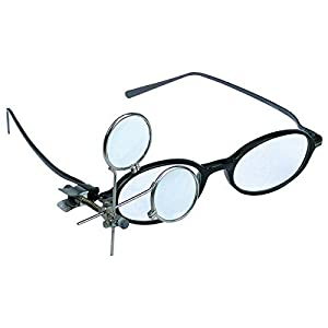 16.5X Jeweler's Clip-On Eye Loupe Magnifying Glass 3.3x, 5x Lens Crafts Sewing