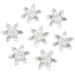 Acrylic Diamond Gems, 7-Ounce, Clear Snowflakes