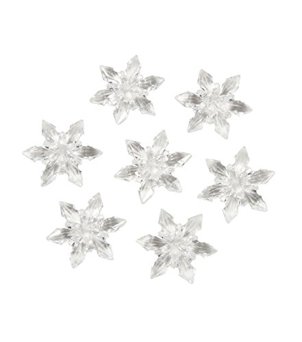 Darice 1151-88 Acrylic Diamond Gems, 7-Ounce, Clear Snowflakes -