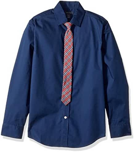 Tommy Hilfiger Big Boys' Long Sleeve Stretch Dress Shirt with Tie