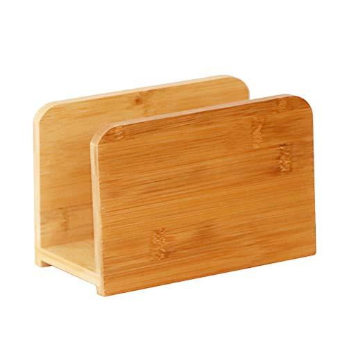 AllBombuu Natural Bamboo Napkin Holder for Home Restaurant Table Top (Napkin Holder)