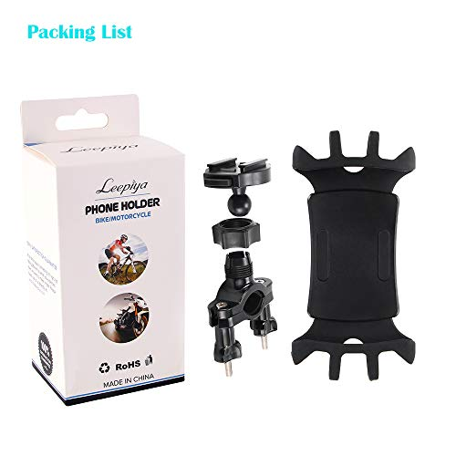 Bike Phone Mount with Quickly Take Off Interface, Leepiya Universal Bicycle Cell Phone Holder Install on Handlebar for iPhone X 8 7 6 5 Plus, Galaxy S9 S8 S7 S6 Plus and All 3.5 to 6'' Mobile Phone/GPS by leepiya (Image #7)
