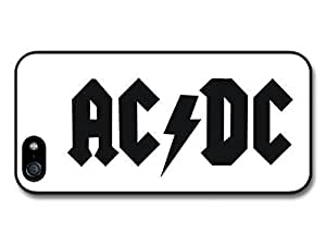 AMAF ? Accessories ACDC Black and White Simple Logo case for iPhone 5 5S