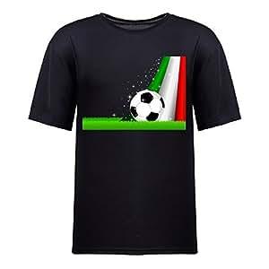 Custom Mens Cotton Short Sleeve Round Neck T-shirt,2014 Brazil FIFA World Cup Soccer Italy black by icecream design