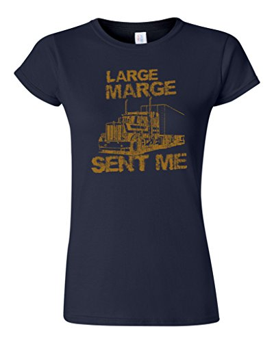 Junior Large Marge Sent Me Truck TV Funny Parody DT T-Shirt Tee (X Large, Navy Blue)