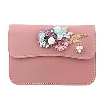 Fawziya Handbag 3D Appliques Crossbody Bag Cell Phone Purse-Dark Pink