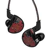 KZ ZS10 Five Drivers In Ear Monitors High Resolution Earphones/Earbuds with Detachable Cable, Black