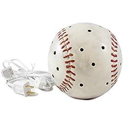 DEI Baseball Sports Plug in Tabletop Night Light,White