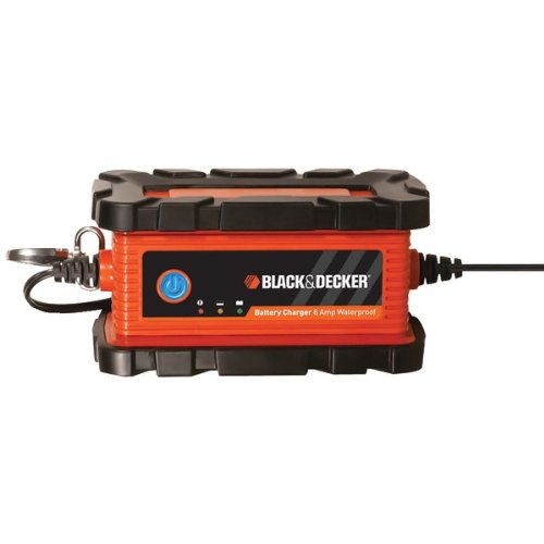 Black & Decker BC6BDW 6A Battery Charger & Maintainer Waterp