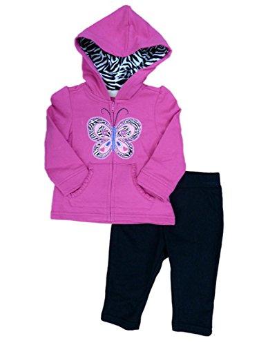Kids Headquarters Infant Girls Butterfly Hoodie Sweatshirt &