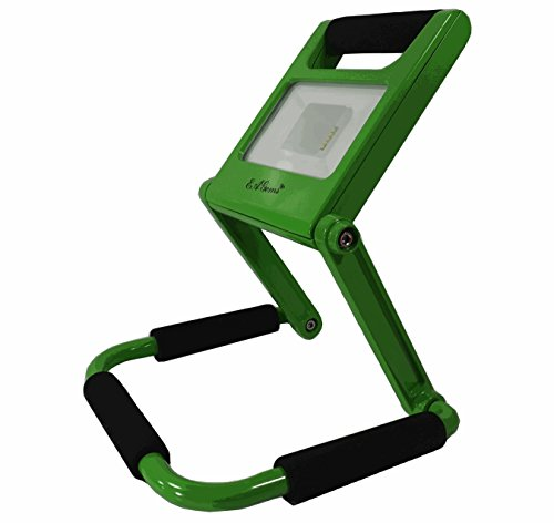 "LED Spotlight by EAGems - Rechargeable Bright 600 Lumens Work Light Uses Only 10 Watts, Great for Work-Home-Office-Car-Outside/In, Emergency Flashlight; Folds to 1"" Thick, Adjustable 360 Degrees Green"