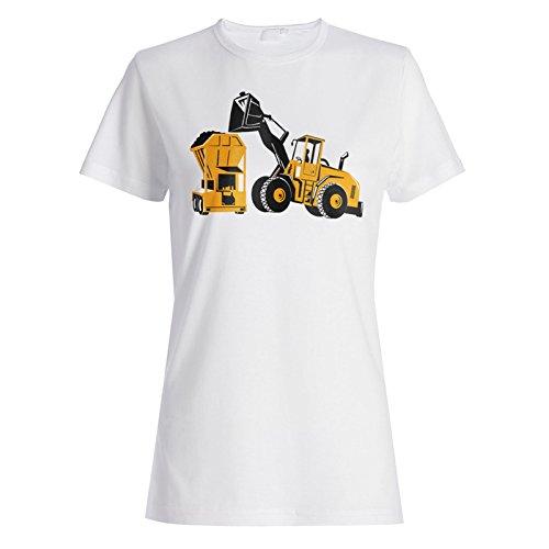 Traktor Geschenk lustig Bagger Landwirt Neuheit Damen T-shirt d820f