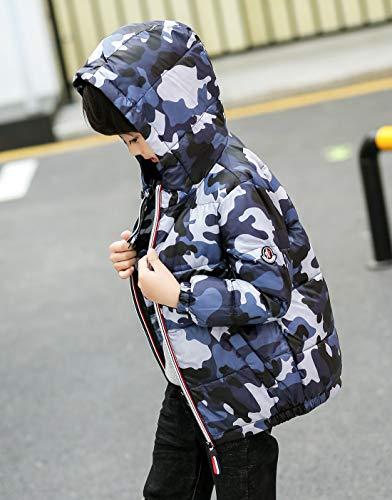Camo Inverno Neonati Caldo Giù Aieoe Outwear Autunno Bambini Antivento Piumino Incappucciati Grigia Il Cappotto 7UngzU
