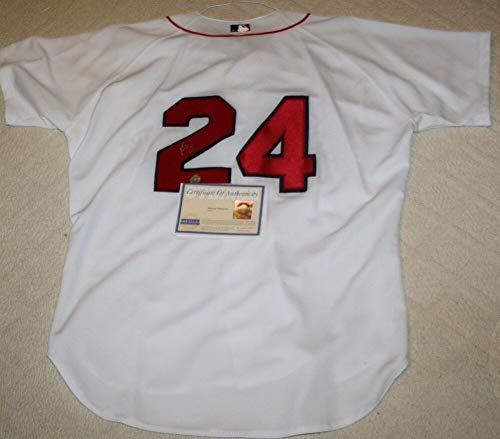 - Manny Ramirez Autographed Signed Russell Athletic Boston Red Sox Jersey Steiner - Authentic Memorabilia