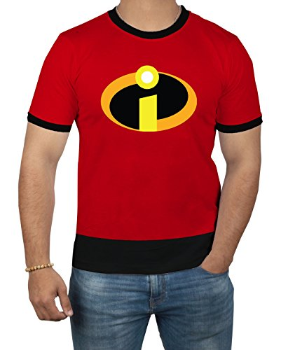 Miracle(Tm) The Incredibles 2 Symbol Logo T Shirt - Mens Adult Costume Red Shirt
