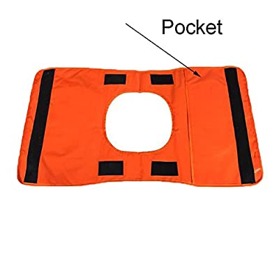 Comily Plus+ Strong Durable PVC Winch Rope Dampener Blanket with Pocket-Light Orange Color: Automotive