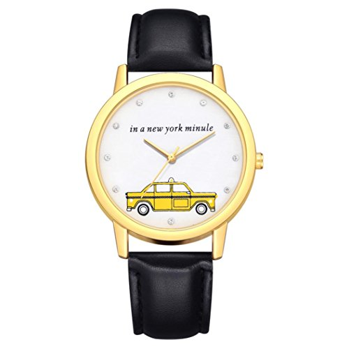 BEUU 2018 Car Gold Dial Leather Strap Watch New Wholesale Price Luxury Fashion Band Analog Quartz Round Wrist Watches Watch Wristwatch Fashion Watches Leather Luxury Mens Women's Casual Steel (C)