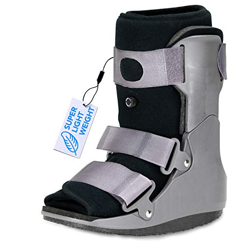 ExoArmor Walking Boot - Superlight, Easy to Get On & Off, Inflatable Liner and in-Sole Air Pillow. Short Rise (Small)