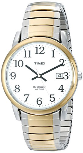 Timex Men's T2H311 Easy Reader Two-Tone Stainless Steel Expansion Band Watch from Timex