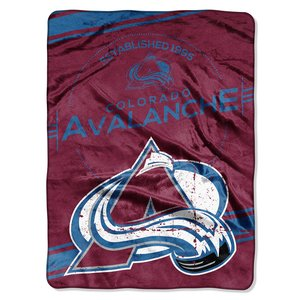 (The Northwest Company Officially Licensed NHL Colorado Avalanche Stamp Plush Raschel Throw Blanket, 60