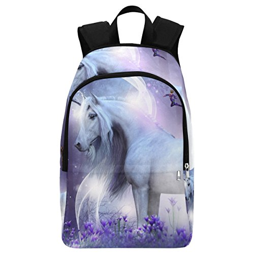 InterestPrint Fantasy Unicorn Faries Casual Backpack College School Bag Travel Daypack