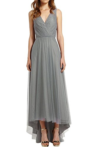 Abiballkleider Silber V Elegant Blau Hi Damen Charmant lo Ausschnitt Rock Royal Abschlussballkleider Tuell Abendkleider 8xwqpOUB