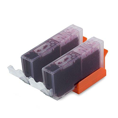 2PK Magenta - SOJIINK Canon Compatible CLI-221M Ink Cartridge for PIXMA MP540 MP550 MP560 MP620 MP630 MP640 MP640R MP980 MP990 MX860 MX870 IP3600 IP4600 IP4700 PMFP1 PMFP3 SFP1 SFP2 (002 Premium Toner Cartridge)