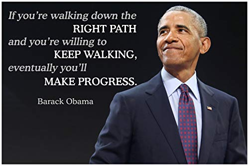 Barack Obama Quote Classroom Poster Growth Mindset Posters School Motivational Inspirational Wall Art Quotes Teacher Supplies Learning Teaching Positive Education Teachers Dreams Mindsets Decorations