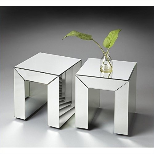 Butler Specialty Loft Bunching Table in Mirror Butler Specialty Company Pedestal