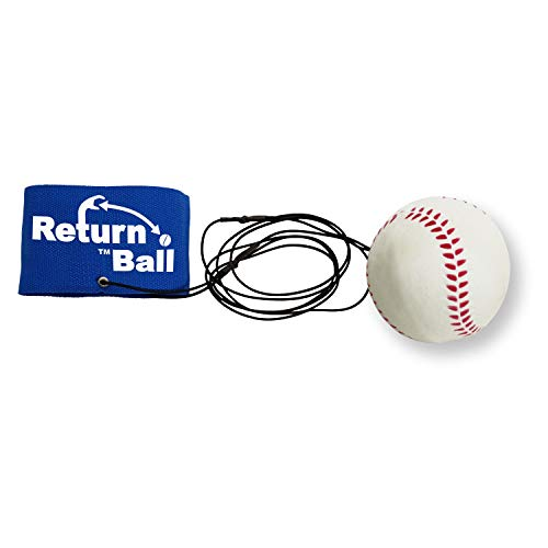 Return Ball - Baseball - Single Player Toy for Indoor or Outdoor Play - Wrist Rebound Ball Fun for Friends and Family - Great as a Gift or a Present - Improve Coordination and Reaction Time