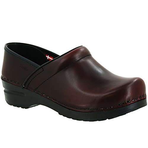 - Sanita Women's Professional Cabrio Clog, Bordeaux, 38 EU/7-7.5 M US