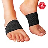 EHbee 2 Pairs Compression Arch Support Brace by, Perfect Plantar Fasciitis Sleeve, Best for Pain Relief, Heel Spurs, Flat Feet, High Arches - One Size Fits All