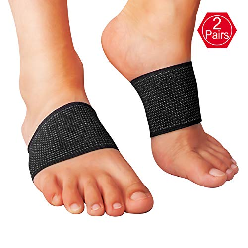 EHbee 2 Pairs Compression Arch Support Brace by, Perfect Plantar Fasciitis Sleeve, Best for Pain Relief, Heel Spurs, Flat Feet, High Arches - One Size Fits All by EHbee