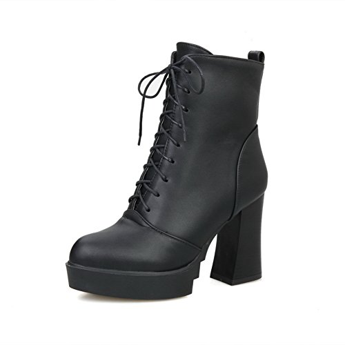 AdeeSu Girls Bandage Chunky Heels Platform Imitated Imitated Imitated Leather Boots B076DK7XFB Shoes 486ba4