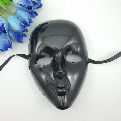 [Fashion Cosplay for Halloween Masquerade Carnival Party Prom Carnival Mask (Black)] (Half Doll Half Zombie Costume)