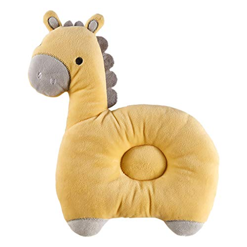 CCFAMILY Newborn Cartoon Breathable Baby Anti-head Shape Pillow 0-3 Years Old Baby