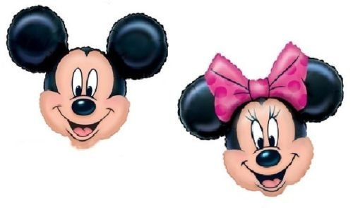 LoonBalloon MICKEY & MINNIE MOUSE Pink Black Heads