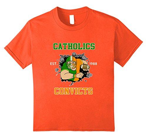 Kids Cool Catholics v Convicts Football Fan T-shirt 8 Orange Orange Football Fan T-shirt