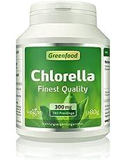 Chlorella, 300 mg, Finest Quality, Presslinge – reich an Chlorophyll, wertvollen Vitaminen, Mineralien und Spurenelementen. Ohne künstliche Zusätze, vegan.
