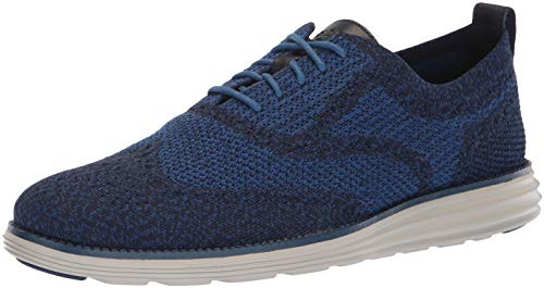 Cole Haan Men's Original Grand Knit Wing TIP II Sneaker, Marine Blue/Dove, 11.5 M US